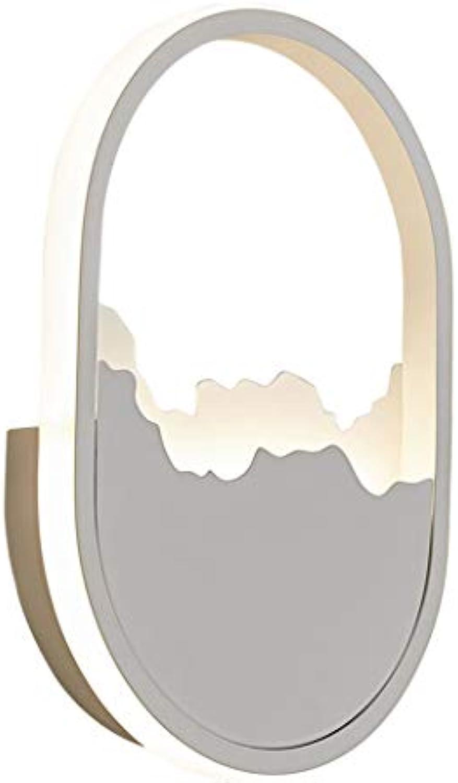 COCOL Wandlampe modernen minimalistischen nordischen Stil kreative 19W warmes Licht LED Patch Eisen Wohnzimmer Lampe Schlafzimmer Lampe Korridor Gang Lichter Wand Lampe Zimmer Nachttischlampe 30  20