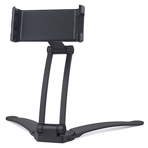 Fuyamp Kitchen Tablet Stand 2-in-1 Tablet Mount Stand Kitchen Wall/CounterTop Mount Stand Compatible with 4-10.5' Universal Tablet & Phone(Black)