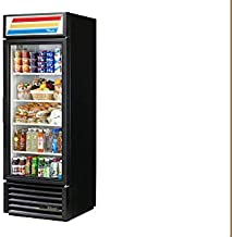 True GDM-23-LD Black One Section Glass Door Refrigerated Merchandiser
