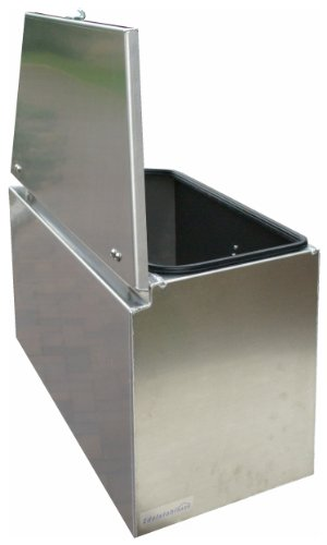 ADE - Premium Deichselbox von Edelstahlhaus, Transportbox, Alubox für PKW Anhänger D2A20N100-075-35-40 - 2