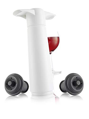Vacu Vin 09812606 - Bomba de vacío con 2 tapones en estuche, color blanco