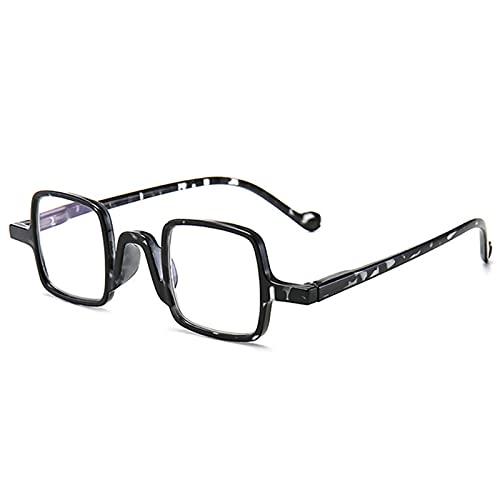 JUNZ +3.5 Gafas de Lectura con Bloqueo de Luz Azul para Mujeres y Hombres,+2.0 Vintage Pequeño Cuadrado Gafas para Leer,Lector de Computadora Portátil