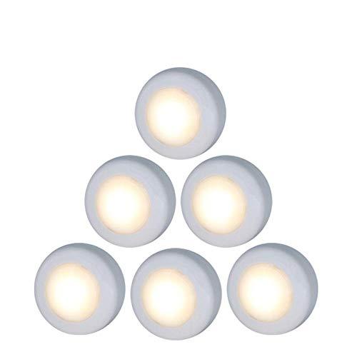 Sensor táctil de control remoto LED debajo de las luces de los gabinetes de cocina Luces de disco LED blancas/blancas cálidas para el pasillo de la escalera del armario cerrado-1
