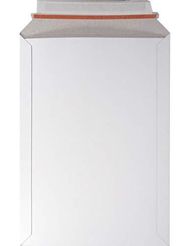 25 enveloppes blanches en carton A4 229x 324mm 450g rabat droit adhésif pour documents brochures photos calendriers muraux