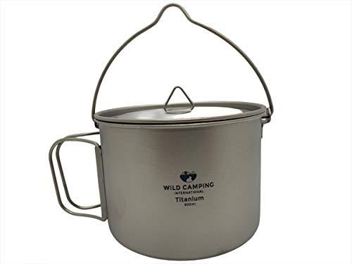 Wild Camping International titanium 900ml hanging cooking pot