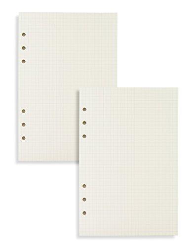 Miliko A5 Planner/Organizer Refills Set-2 Refills Per Pack, 8.27' x 5.67', 90 Pages/45 Sheets Per Item (Square Grid)