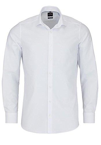 OLYMP Level Five Body fit Hemd Langarm Streifen weiß Größe 39