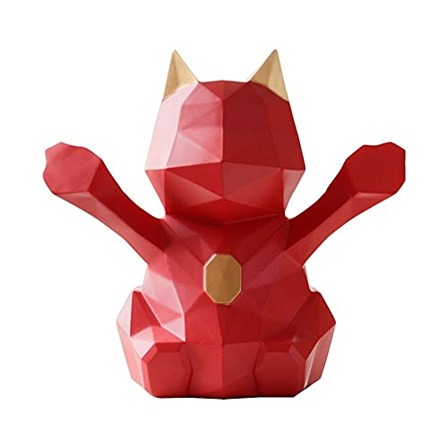 XXZY Banco de Monedas de Monedas Creativas de la alcancía Banco de Dinero Simple para niños Adulto Cumpleaños Decoración del hogar Gran Capacidad (Color : Red)