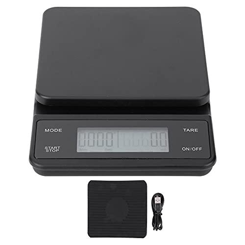 Conkergo 3kg / 0.1g Cocina Digital Digital de la Cabeza DE Cabeza DE GRATOR DE Cafe DE GRATUIDO con Timer USB Cargando