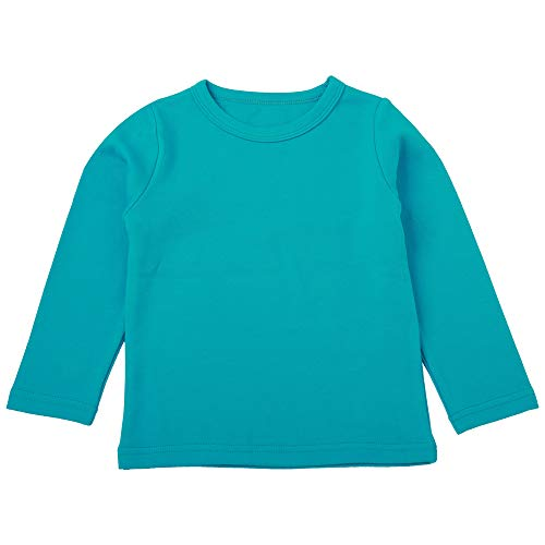 LieLiestar tシャツ 無地 子供服 五色展開 幼稚園服 秋 冬 春 トップス 綿 キッズ服 服 Uネック 男の子と女の子に対応 暖かい 柔らかい インナー 寝間着 キッズ