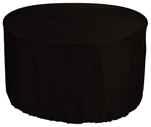 N / A Comprar premioredonda Mesa de jardín Ø 120x95 cm Mesa de Muebles de jardín y Cubierta Cubierta de la Silla Mantel Polvo Patio Redonda Tela 600D Oxford Impermeable Negro