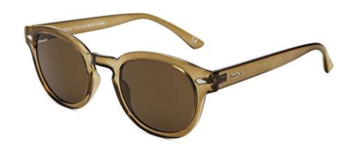 Polar Oliver - Gafas de sol polarizadas para hombre, color marrón translúcido