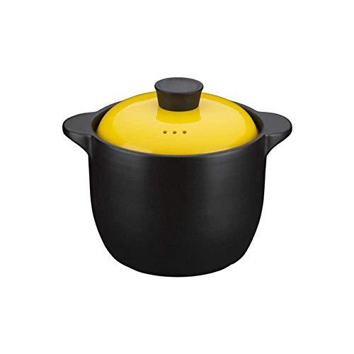 ZJZ Terrakotta-Eintopf-Keramiktöpfe zum Kochen von holländischem Ofen - leicht ausgießbar, rutschfest, leicht zu nehmen 4 l