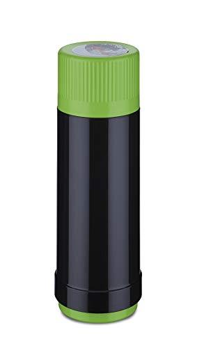 ROTPUNKT NEU Isolierflasche 40 Electric- 0,125 L 0,5 L | 0,75 L | 1,0 L Liter | BPA Frei- gesundes Trinken | Made in Germany | Warm + Kalthaltung | (750 ml, Black/Electric Grashopper)