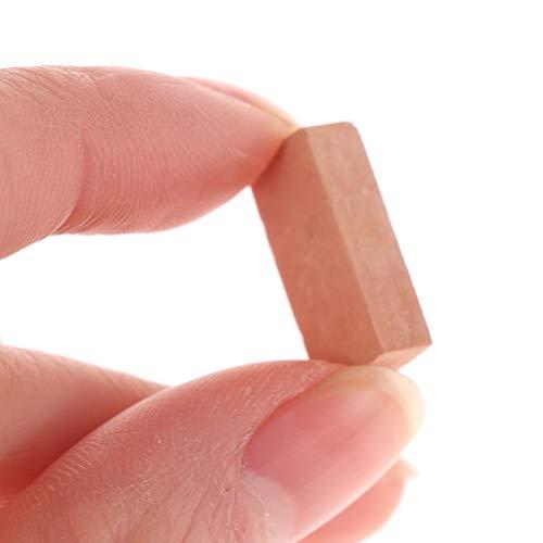 50 piezas de 1/16 casa de muñecas micro paisaje bricolaje mini ladrillo artificial miniatura ladrillos modelo mesa de arena accesorios micro paisaje (rojo).