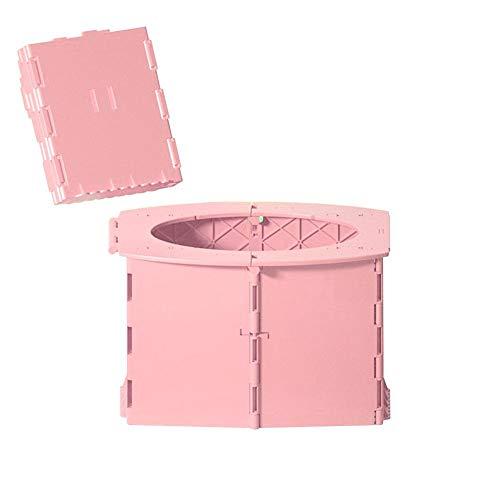 Sanmubo Trading Kinder tragbare Toilette Baby Training Töpfchen Klappkommode Toilettensitz Camping Toilette Waschbare robuste kompakte Toilette für Camping Wandern Lange Reisen Stau - BPA Kostenlos