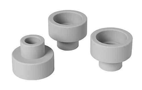 Blomus Teelichthalter-65784 Kerzenhalter, Mirage Grey, H 4,5 cm, ø 5,5 cm
