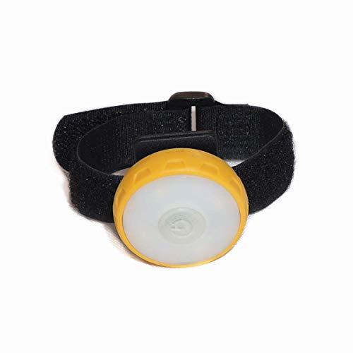Bicycle lights, multifunctional USB rechargeable bicycle tail light cap clip lights wrist lights backpack lights warning lights Pet lights Huangwei7210 (Color : Yellow)