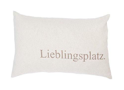 David Fussenegger - SILVRETTA - Kissenhülle/Kissenbezug - Lieblingsplatz - Rauch - 40x60cm