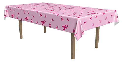 Pink Ribbon Housse de Protection pour tablecover pour fête (1 Count) 54 en x 108 cm