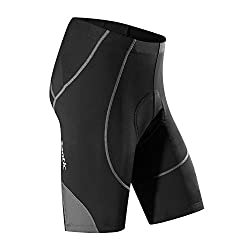 SANTIC Men's Cycling Shorts Biking Bicycle Bike Pants Half Pants 4D COOLMAX Padded Bike Shorts