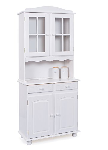Links 20900805Valencia Credenza Madia vaisselier 2ante bianco 43x 88x 198cm
