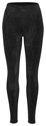 Tobeni Damen Winter-Leggings mit Teddy-Futter Thermo-Legging extra Kuschelig Warm Farbe Schwarz Grösse L/XL