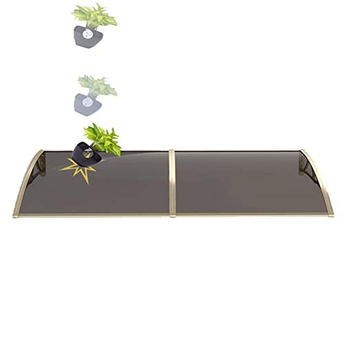YANAN Marquesina Techado Entrada Tejadillo Policarbonato, 60x100cm 100x300cm, Toldos Puerta Exterior De Protección, para Puertas y Ventanas, Seguro Duradero (Color : Transparent, Size : 100x150cm)