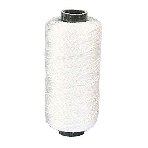 EBILUN Costura de Cuero de Nylon Reforzado Fuerte, 300m 2 Hilos Hilo Encerado para Zapatos de reparación Artesanal Blanco