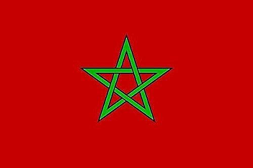 U24Drapeau du Maroc haute qualité pour bateau drapeau 120x 180cm