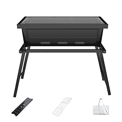 N\C Barbecue Pliable extérieur, Barbecue au Charbon Portable pour Usage Domestique, adapté aux barbecues extérieurs avec Sac de Rangement, Pas d'installation LKWK
