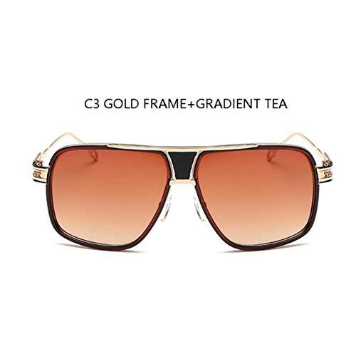 HYUHYU mannen mode vierkante zonnebril spiegel shades grote metalen frame Louis Vintage merk zonnebril vrouwen heldere lens eyewear bril