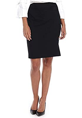 ATOUR Women's Stretch Basic Bodycon Suiting Pencil Skirt Solid Above Knee
