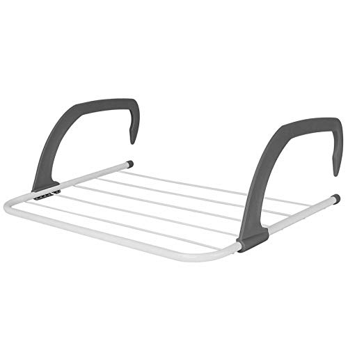 Ossian Deluxe Radiator Airer – Compact Heavy Duty 5 Bar Hanging Folding...