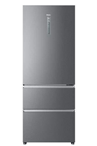 Haier A3FE742CPJ - Frigorífico combi con congelador de cajones, 70cm de ancho, Motor Inverter, Total No frost, Libre Instalación, Inox, Clase A++