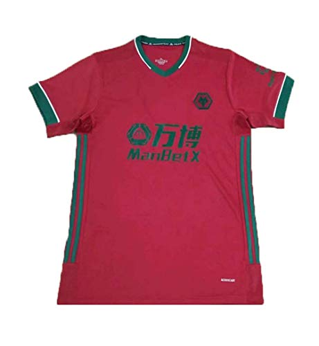 Traje de fútbol para Hombre 2021 Temporada Logo Wolves Jersey de Manga Corta Adecuada para el Desgaste Diario y Entrenamiento de fútbol XXL