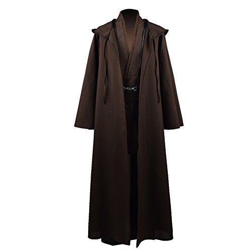 Zhangjianwangluokeji Jedi Knight Anakin Luke Skywalker Kostüm Cosplay Mantel Cosplay Kostüm Halloween Robe Outfit Anzug Mantel (L, Style 1)