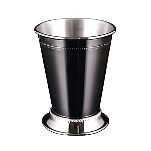Amusingtao Mint Julep Cup moldeado borde acero inoxidable cerveza cóctel bar set regalo cócteles bebidas mixtas tazas