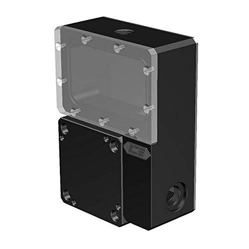 FANHE Wasserkühlung Wassertank Pumpe Reservoir Combo für Ncase Chasis M1 V4 V5 V6 Reservoir 125X89x41mm Schwarz Transparent Wassertank