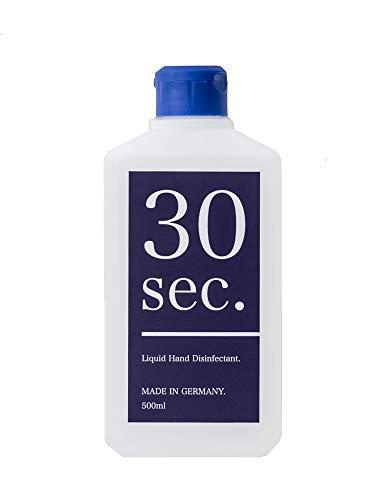 30sec. Händedesinfektion (500ml) – Desinfektionsmittel mit 75-80% Ethanol und pflegendem Glycerin – In Deutschland hergestellt