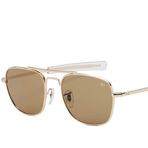 2THTHT2 Moda Gafas De Sol De Aviación para Hombres Diseñador De Marca Gafas De Sol para Hombres Ejército Americano Lente De Vidrio Óptico Militar
