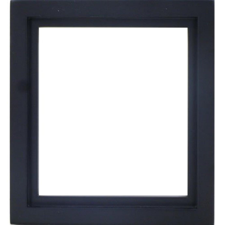 あごひげ理論未使用1/4色紙額縁 4876 1/4色紙 寸松庵(136x121mm) ブラック ガラス仕様