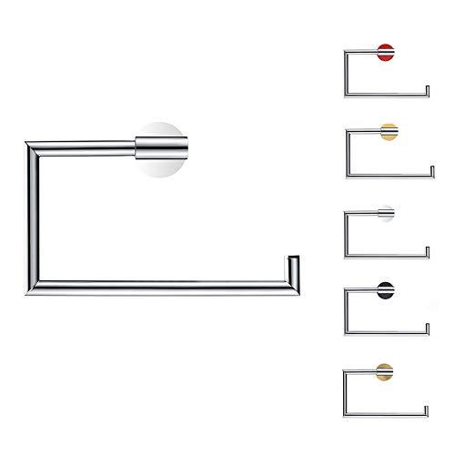 LYNNMJH Anillo de Toalla,Montado en la Pared Todos de Bronce Toallero,por Baño Y Cocina,una Variedad de Especificaciones Espesar/Plata / 212x137mm