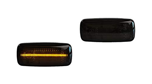 Premium Smoke Schwarz LED Seitenblinker Blinker Links Rechts 802