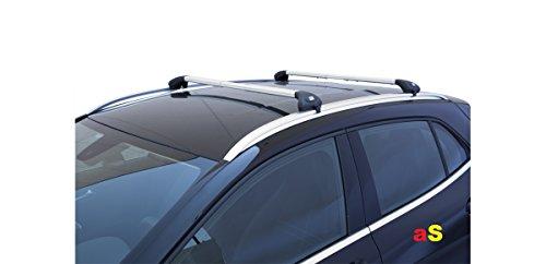 Barras portaequipajes para coche Viva 2 Integradas para Mokka de 2012 en adelante aluminio