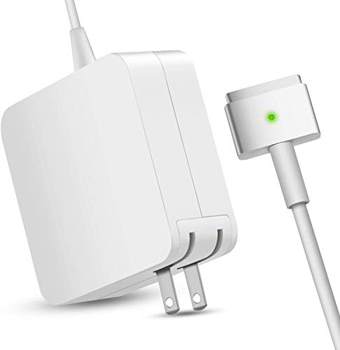 Mac Book Pro Charger, AC 85w Power Adapter Mag Safe 2 T-Tip Adapter Charger Connector - Superior Heat Control – for Mac Air Mac Book Pro 17/15/13 Inch [After Mid 2012] (White)