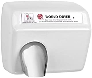 A-Series Dxa5-974 Automatic Hand Dryer - White Steel - By World Dryer, 115 Volt, Touchless, Durable for Commercial Restrooms