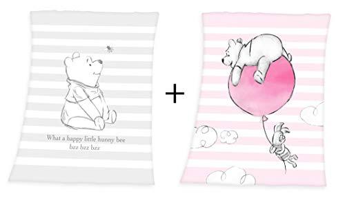 Disney Winnie l'Ourson Couverture moelleuse pour bébé 75 x 100 cm