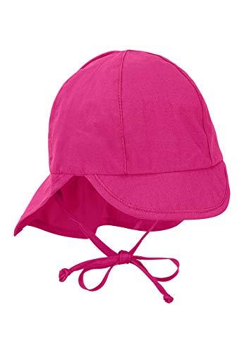 Sterntaler Baby-Mädchen Schirmmütze mit Nackenschutz Mütze, Rosa (Magenta 745), XX-Large (Herstellergröße: 43)