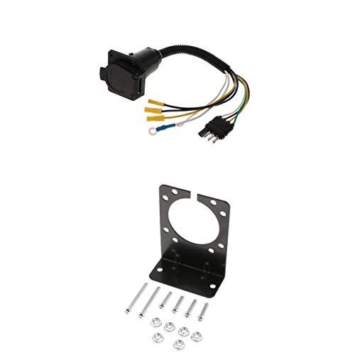 LiCHANGZHU LCBIAO Adaptador de Enchufe de cableado de Remolque 7 Pin Trailer Electrics convertidor Redondo con Socket Más Vendido